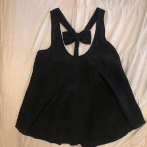 Black Blouse/Tank Top with bow detail in the back